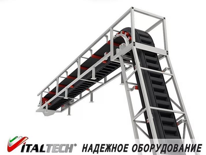 Ленточный транспортер вертикальный производство конвейеров и транспортеров